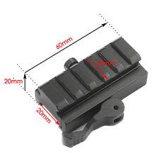 HQ Tactical 20mm Picatinny Weaver Rail QD Lever Lock Adaptor Scope Mount Riser