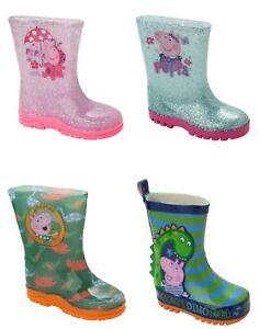 GIRLS PEPPA PIG / GEORGE WELLIES WELLINGTON RAIN SNOW WELLYS BOOTS UK SIZE 5-10