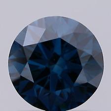 Blue 1.3ct Lab Grown Diamond VS1 Round Brilliant Cut 1 Stone