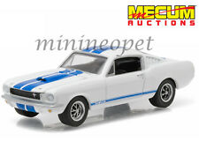 GREENLIGHT 51047 MECUM EXCLUSIVE 1965 FORD SHELBY MUSTANG GT 350 1/64 WHITE