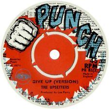 THE UPSETTERS GIVE UP PUNCH 1971 REGGAE SKA REPRO VINYL STICKER LABEL 85MM