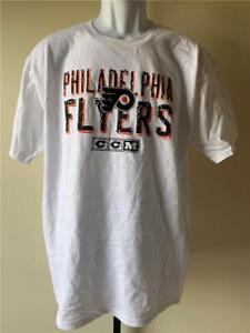 New Philadelphia Flyers Mens Size L White CCM Shirt