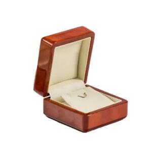 Real wood luxury walnut earring box very elegant style