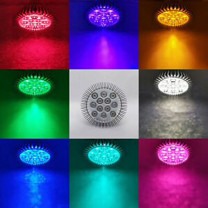 12W PAR38 Purple Blue Red Cyan IR UV LED Lamp Light Bulb Plant Aquarium E26 E27