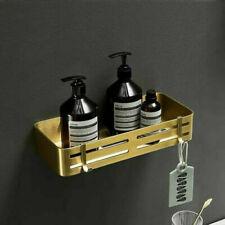 Newly Aluminum Brushed Gold Bathroom Shelf Single Layer Shower Corner Shelf