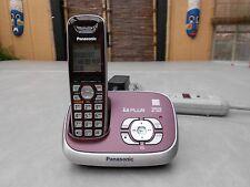 panasonic kx-tg6521r dect 6.0 schnurloses telefon mit anrufbeantworter system, 1 mobilteile