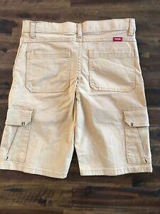 Wrangler Boys 16 Reg Adjust Waist Cargo 6 Pocket Tan Shorts NWT