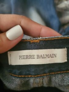 Pierre Balmain...Italy..Distressed Cuffed Jeans!