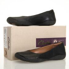 0121915ed24 Clarks Autumn Sun Black Leather Slip On Ballet Flats - Size 6 M