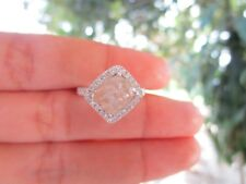 4.53 Carat Rough Natural Diamond White Gold Ring 14k sepvergara