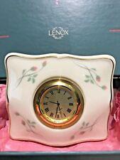 """Lenox """"Rose Manor"""" Porcelain Clock"""