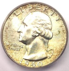1940 Washington Quarter 25C - Certified ICG MS67 - $308 Guide Value in MS67!