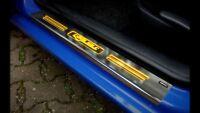 FÜR VW GOLF 4, 4-TÜRER * BELEUCHTETE EDELSTAHL EINSTIEGSLEISTEN MIT WUNSCHGRAVUR