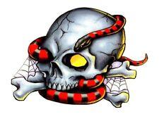 Temporary Tattoo, Einmal Tattoo, BTB6, Totenkopf mit Schlange