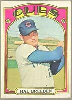 1972 Topps Baseball #684 SP Hal Breeden Chicago Cubs Rookie HIGH # VG-EX