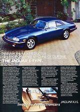1984 Jaguar XJS XJ-S Coupe - Original Advertisement Print Art Car Ad J664