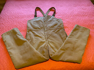Vintage Walls Blizzard Pruf Insulated Duck Brown Overalls/Bibs USA 42-44 XL Tall