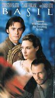 BASIL-VHS TAPE- RARE DRAMA ROMANCE w CHRISTIAN SLATER 1998 TOUCHSTONE HOME VIDEO