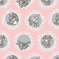 Fat Quarter Disney Bambi Charakter Klopfer Baumwolle Quilt Stoff pink