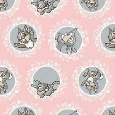 Fat Quarter Disney Bambi Character Thumper Cotton Quilting Fabric Pink
