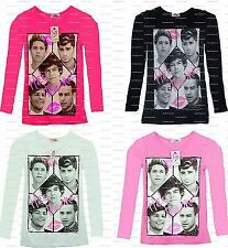 "GIRLS NEW ONE DIRECTION ""HE'S THE ONE "" LONG SLEEVE TOP T SHIRT AGES 3-8 YEARS"
