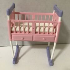 Barbie Midge Happy Family Baby Doll Crib Rocker Changing Table Furniture Newborn