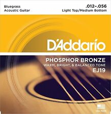 D'Addario EJ19 Phosphor Bronze Bluegrass (.012-.056) Acoustic Guitar Strings