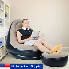 Large Inflatable Adult Bean Bag Flocked Beanbag Indoor Outdoor Garden Yard Chair