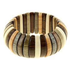 Bracelet en bois genévrier - Bijou artisanal russe - Bracelet en bois Naturel