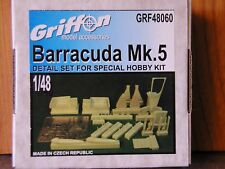 1/48 Griffon FAIREY BARRACUDA Mk.V Detail Set Resin & Photo Etch NEW OOP rare
