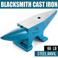 66 Lbs 30KG Round Horn Blacksmith Cast Steel Anvil Solid Metal Work Heat Treated
