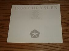 Original 1988 Chrysler Full Line Sales Brochure 88 New Yorker Town & Country