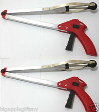 "2 xFoldable Pick Up Tool Grabber Reacher Stick Reaching Grab Extendsion 30"" inch"