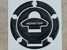 Petrol Fuel  Filler Cap Pad Carbon Fibre effect Cover To Fit Ducati Monster