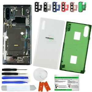 Clear Transparent Back Glass Replacement+IP68 for Samsung Galaxy Note 10/10 Plus