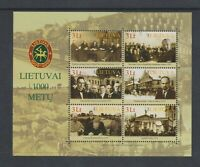 Lithuania - 2008, Lithuanian Millenary, 8th series sheet - MNH - SG MS946