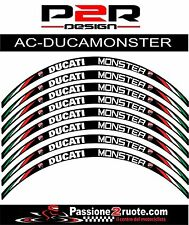 Adesivi cerchi Ducati Monster 600 620 695 striscie ruote whees stickers decals