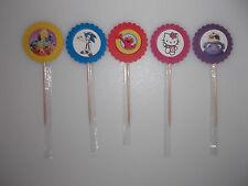 24PC. CUPCAKE TOPPERS **FREE SHIPPING** 23 CHARACTER THEMES TO CHOOSE FROM