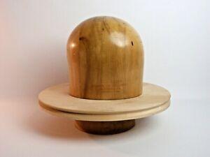 Vintage 1940s Millinery Hat Form Mold Block Wood Louie Miller School 3 Piece