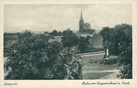 Ansichtskarte Limmritz Partie am Kriegerdenkmal und Kirche  (Nr.9253)
