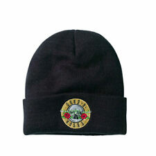 More details for guns n roses logo black beanie hat - amplified clothing