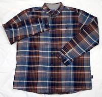 Patagonia Mens Long Sleeve Button Down Plaid Pocket Shirt Size XL
