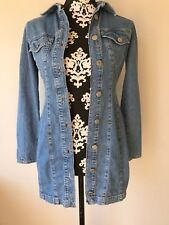 GUESS JEANS Sz 3 Denim Dress or Long Fitted Tunic Top Button Down Long Sleeve