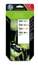 GENUINE ORIGINAL HP 940XL Ink Cartridges Black Cyan Magenta Yellow C2N93AE 8000