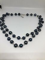Black Baroque Freshwater Real Pearl Necklace