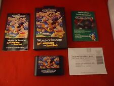 World of Illusion Starring Mickey Mouse & Donald Duck Sega Genesis COMPLETE #L1