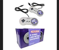 2x SNES Classic USB Super Nintendo Game Controller Gamepad PC Android Raspberry