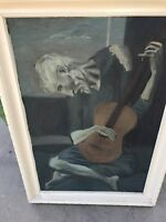 Picasso painting Old Guitarist