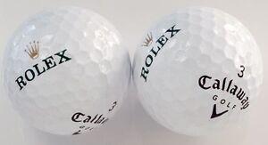 3 Dozen (Rolex Watch Gold Hand LOGO) Callaway MINT AAAAA Mix Used Golf Balls