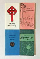 Vintage  Good Fellowship/Hymns/Path of Fellowship Pocket Songs Book Lot of 4